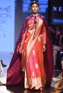 fuscia-pink-silk-sari