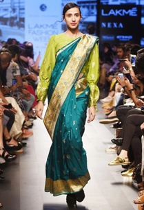 emerald-green-silk-sari
