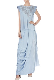 light-grey-crop-top-with-draped-skirt-kurta