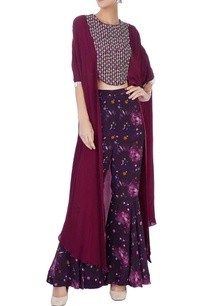 wine-cape-top-with-printed-pants