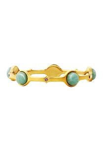 gold-plated-bangle-with-green-studs