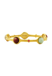 gold-plated-bangle-with-multi-colored-studs