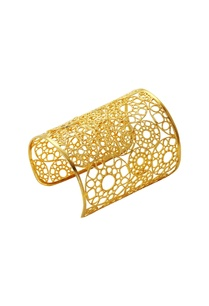 gold-plated-hand-cuff-in-geometric-pattern