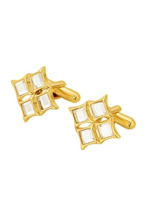 gold-plated-cufflinks-with-mirror-work