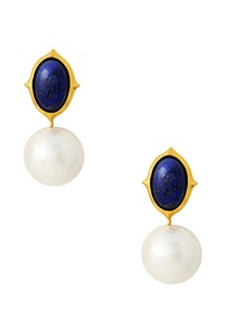 gold-plated-earrings-with-blue-white-studs