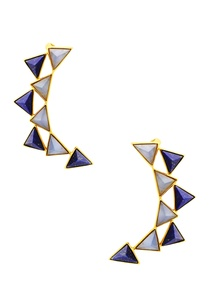 gold-plated-ear-cuffs-with-blue-triangle-studs