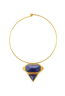 gold-plated-choker-necklace-with-blue-studs