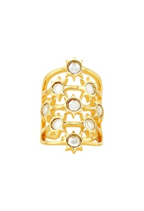gold-plated-ring-with-mirror-work