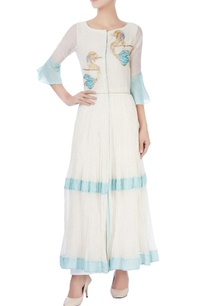 white-sky-blue-mermaid-kurta
