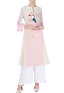 pink-white-striped-kurta