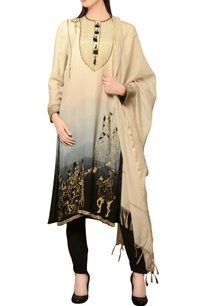 beige-grey-black-ombre-kurta-set