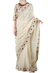 beige-printed-sari