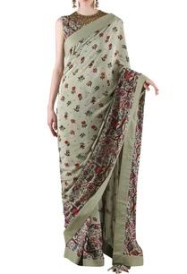 sage-green-printed-sari