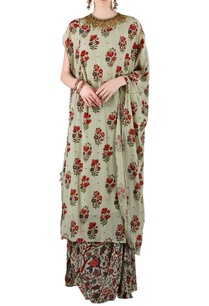 sage-green-printed-kurta-with-skirt
