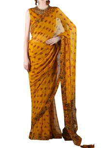 mustard-yellow-printed-sari-with-embellishment