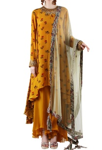 mustard-yellow-grey-printed-palazzo-set