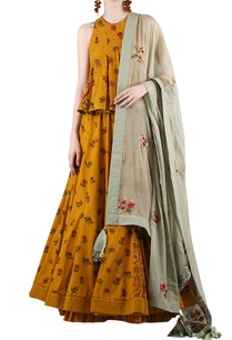 mustard-yellow-grey-printed-lehenga-set