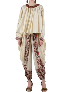 beige-printed-blouse-with-dhoti-pants