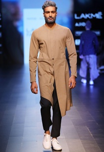 brown-navy-blue-jacket-style-kurta