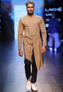 brown-jacket-style-kurta