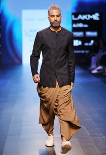 sand-brown-dhoti-pants-with-drape
