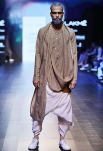 sand-brown-draped-kurta