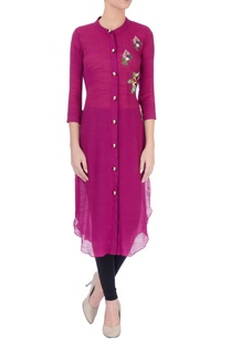 wine-embroidered-kurta