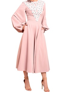 light-pink-midi-dress