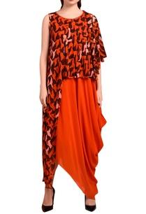 orange-draped-maxi-dress