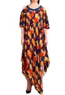 multi-colored-asymmetric-maxi-dress