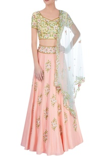peach-light-yellow-lehenga-set