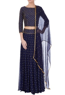midnight-blue-embellished-lehenga-set