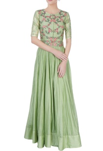 pastel-green-embroidered-anarkali-dress