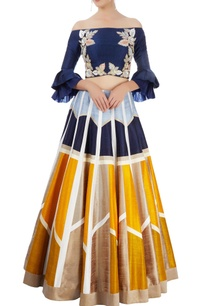 multi-colored-lehenga-with-off-shoulder-blouse