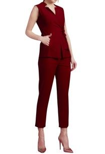 vivid-red-blazer-with-pants