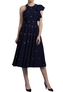 midnight-blue-embroidered-dress