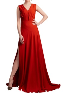 orange-gown-with-drop-waist