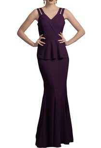 deep-purple-peplum-gown