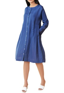royal-blue-striped-dress