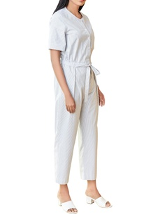 white-black-striped-jumpsuit