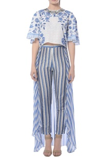 blue-striped-pants-with-attached-drape