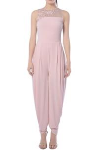 pink-cowl-draped-jumpsuit