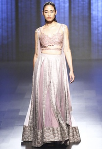 lilac-bustier-lehenga-with-cape