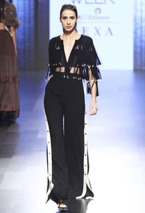 black-suede-fringed-jumpsuit