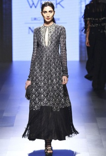 black-printed-anarkali-with-fringes