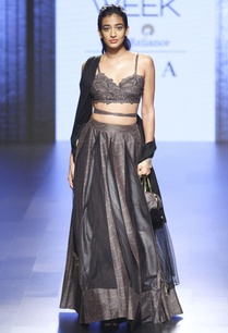 dark-grey-printed-lehenga-set