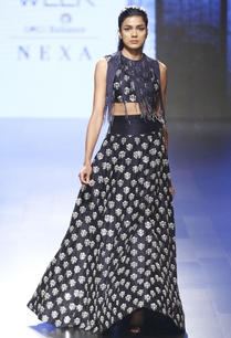 midnight-blue-lehenga-skirt-crop-top