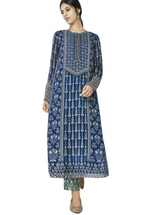 blue-printed-kurti-with-buttons