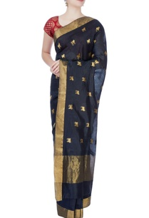 black-golden-cow-motifs-mulberry-silk-sari