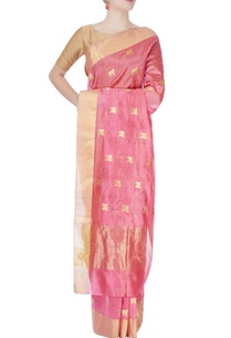 rough-pink-mulberry-silk-sari-with-cow-motifs